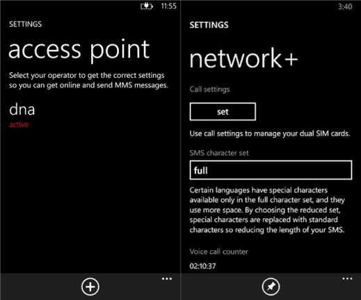 acces point and network+ for Windows Phone