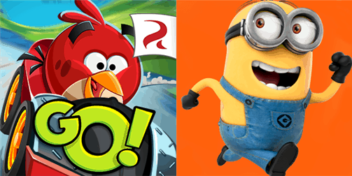 Angry Birds Go! and Minion Rush for Windows Phone
