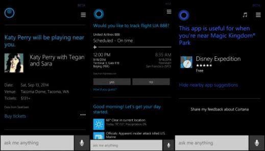 Cortana latest features Windows Phone