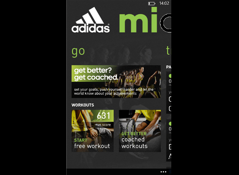 Download adidas micoach beta for Windows Phone