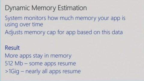 Dynamic Memory Estimation Windows Phone 8.1