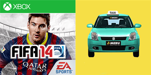FIFA 14 and Meru Cabs on Windows Phone