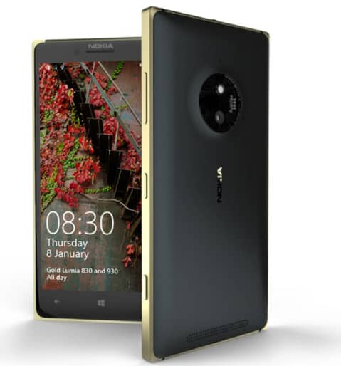 Lumia 830 Golden version