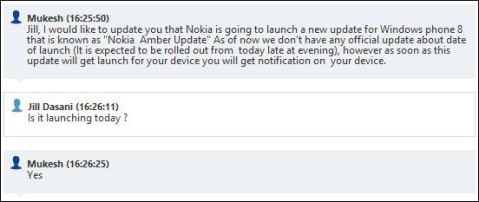 Lumia Amber launching today in India