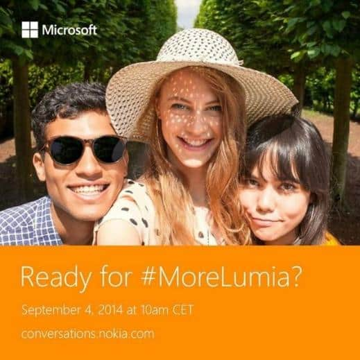 Microsoft 4th Sept announcement - New Lumia phones image new
