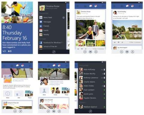 New Facebook App v5.0.1.0 for Windows Phone 8