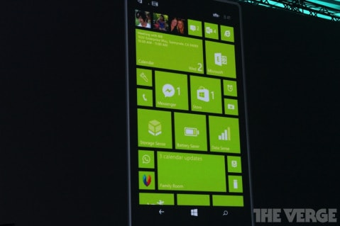 New Startscreen layout in WP8.1
