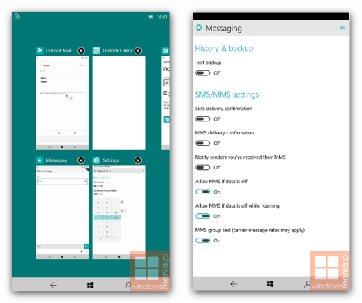 New Windows 10 for Phone build