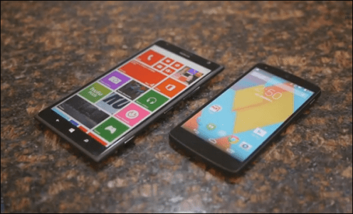 Nokia Lumia 1520 vs Google Nexus 5 Video
