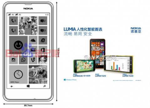 Nokia Lumia 630 leaks