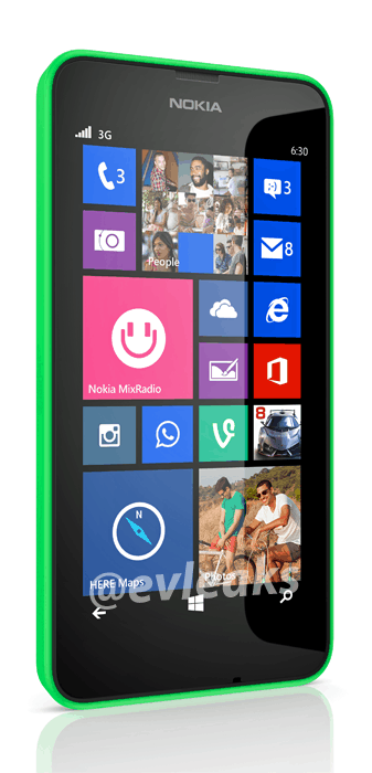 Nokia Lumia 630 press render