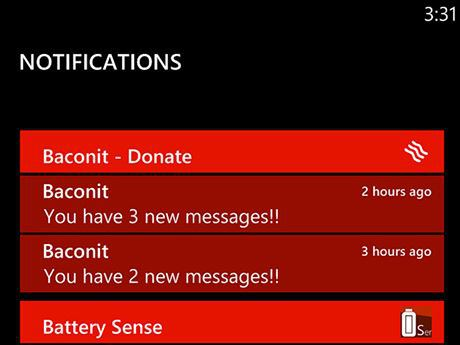 Notification Centre WP8 Proto 1