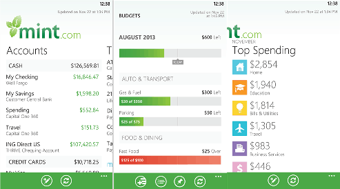 Official Mint app for Windows Phone