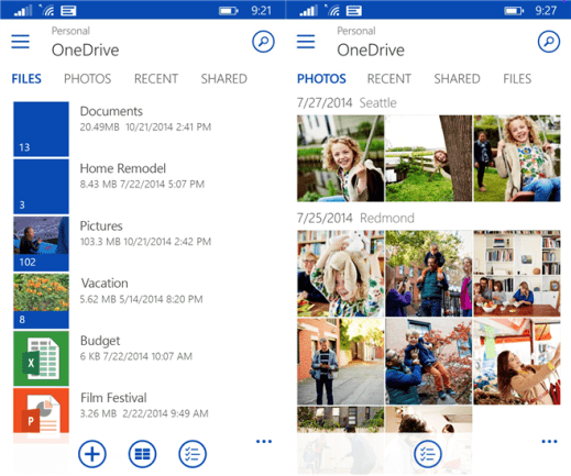 OneDrive for Windows Phone 8.1