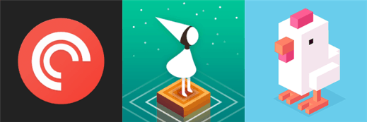 Pocket Casts, Monument Valley and Crossy Road for Windows Phone
