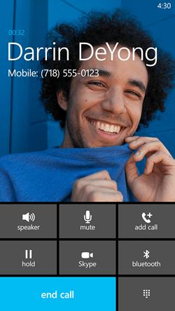 Skype integration in Dialer WP8.1