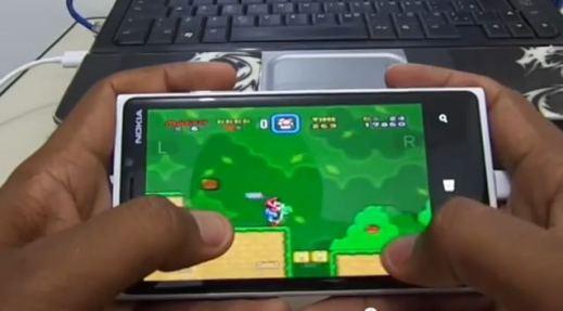 Super Mario on Nokia Lumia Windows Phone 8