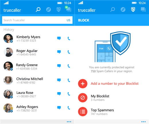 Truecaller for Windows Phone image 3