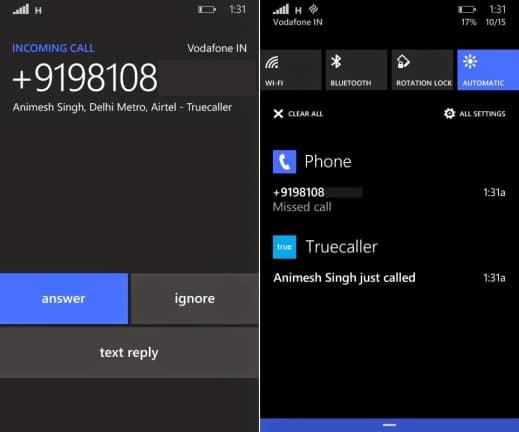 Truecaller Live Caller Id Windows Phone