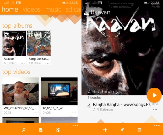 VLC for Windows Phone 8.1