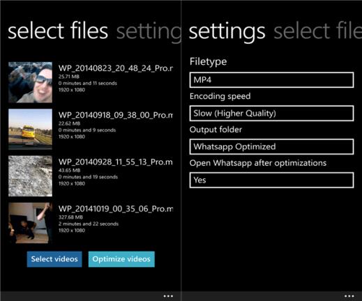 Whatsapp Video Optimizer for Windows Phone image 3