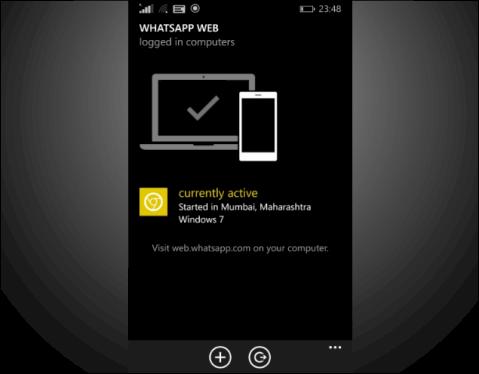 Whatsapp Web for Windows Phone image 2