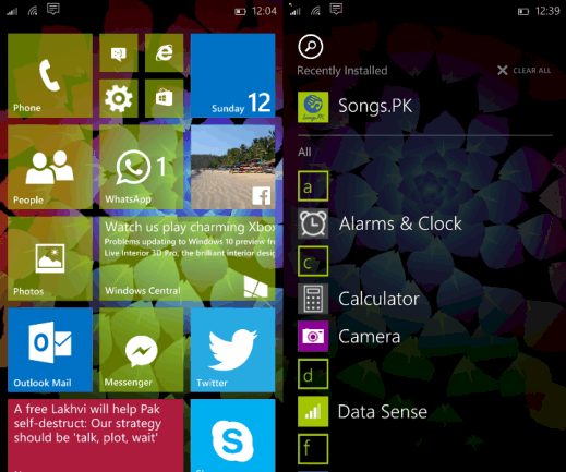 Windows 10 for Phone build 10052