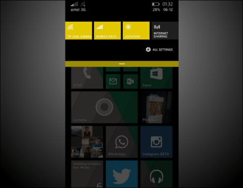 Windows Phone 8.1 Developer Preview version 8.10.14219.341 image 1